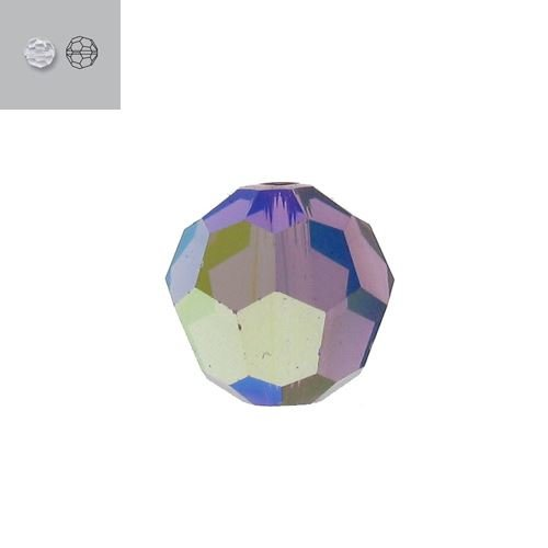 4MM AMETHYST AURORE BOREALE 5000 SWAROVSKI BEAD SOLD BY PACK