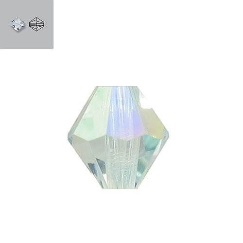6MM LIGHT AZORE AURORE BOREALE 5328 SWAROVSKI BEAD SOLD BY PACK