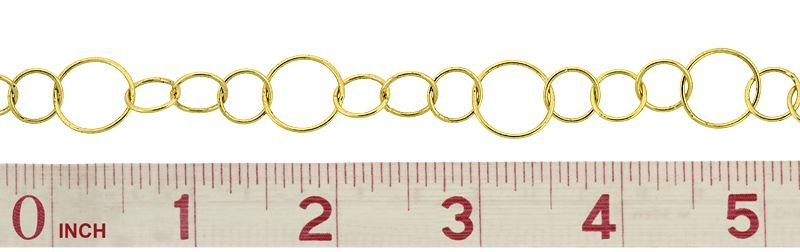 VERMEIL VARIOUS SIZE ROUND CABLE CHAIN