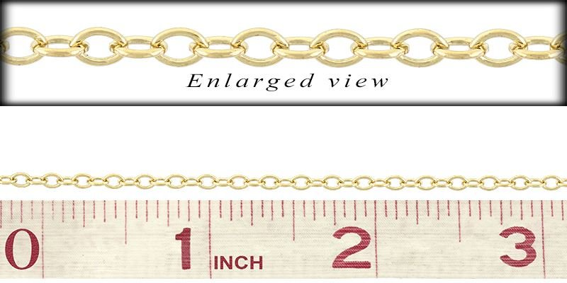 GF 3.0MM CHAIN WIDTH OVAL CABLE CHAIN