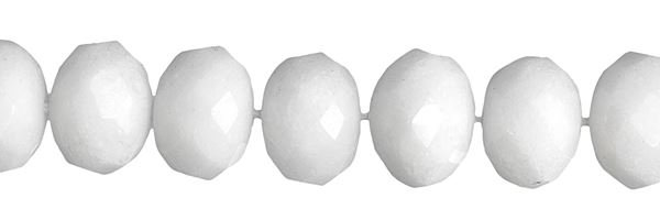 6MM ROUNDEL FACETED WHITE JADE BEAD