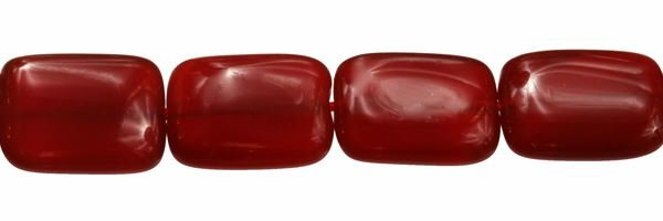 10X14MM RECTANGLE RED AGATE BEAD