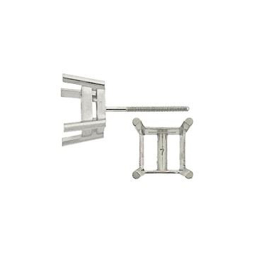 18KW 2.5mm 15pts Metal Mold Square Earring