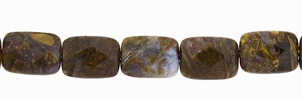 8X12MM RECTANGLE FACETED PIETERSITE BEAD