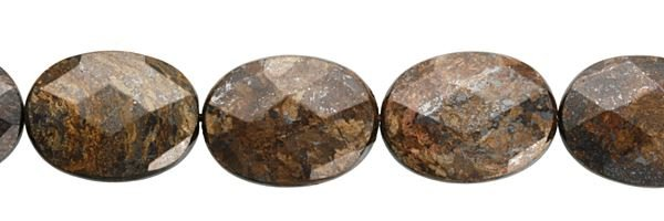 13X18MM OVAL FACETED BRONZITE BEADS