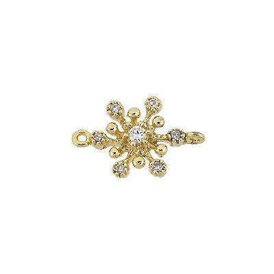 Vermeil 8mm Cubic Zirconia Snowflake Connector