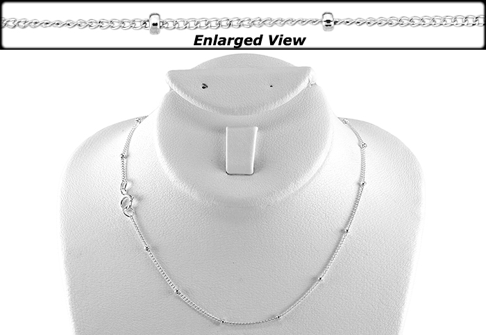 STERLING SILVER 16 INCHES NECKLACE