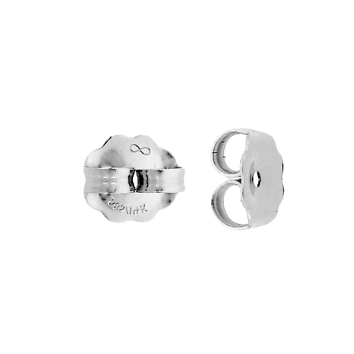 STERLING SILVER 6X0.91MM HOLE EARRING FRICTION EARNUT