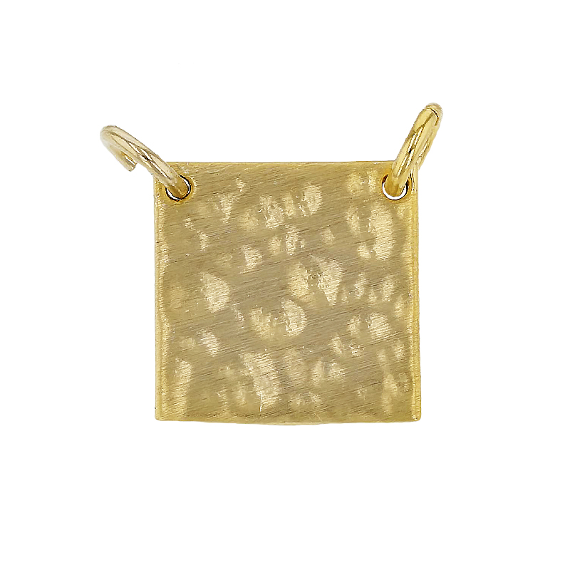 10mm Hammered Square Charm