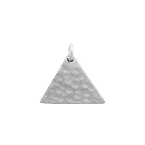 11mm Hammered Triangle Charm