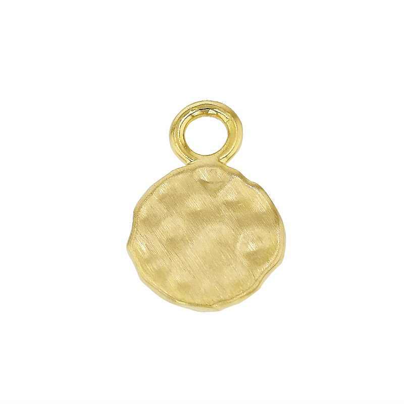 9mm Hammered Disc Charm