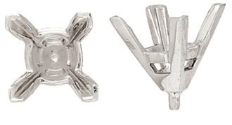 14KY 10MM 10-12PTS SQUARE CENTER HEAD WITH V-PRONGS AND PEG
