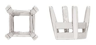 14KY 3MM 20PTS SQUARE CENTER HEAD WITH FLAT PRONGS FOR OCTAGONS