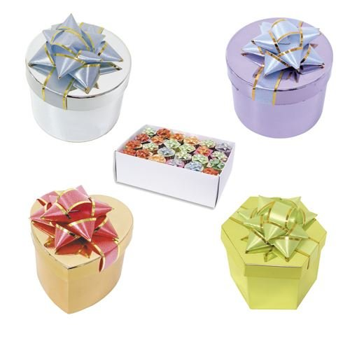 ASSORTED COLOR METALLIC WRAPPED RING BOX